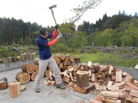 薪割り風景